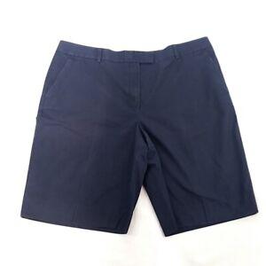 Brooks-Brothers-346-Womens-sz-16-Navy-Blue-Casual-Chino-ShortsR