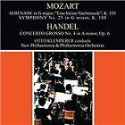 """Mozart: Serenade """"Eine kleine Nachtmusik"""" K. 525; Handel: Concerto Grosso No. 4 Op. 6 (2011)"""