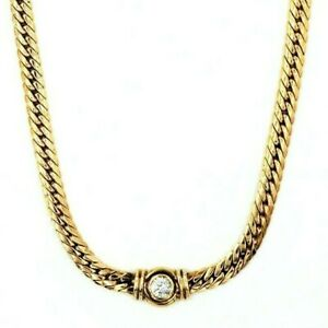 9ct Yellow Gold Double Curb Link Chain Necklace Fine Cubic Zirconia Jewellery