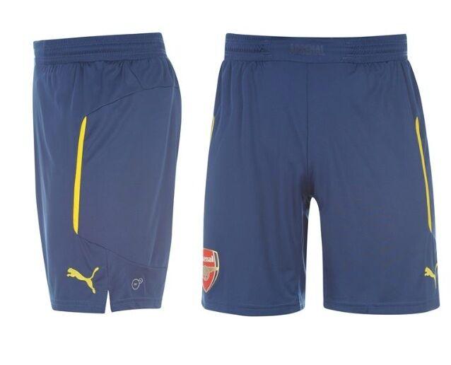 Puma Arsenal London London London Auswärts Away Hose 2014 2015 alle Größen Gelb Blau Neu 8d7d62