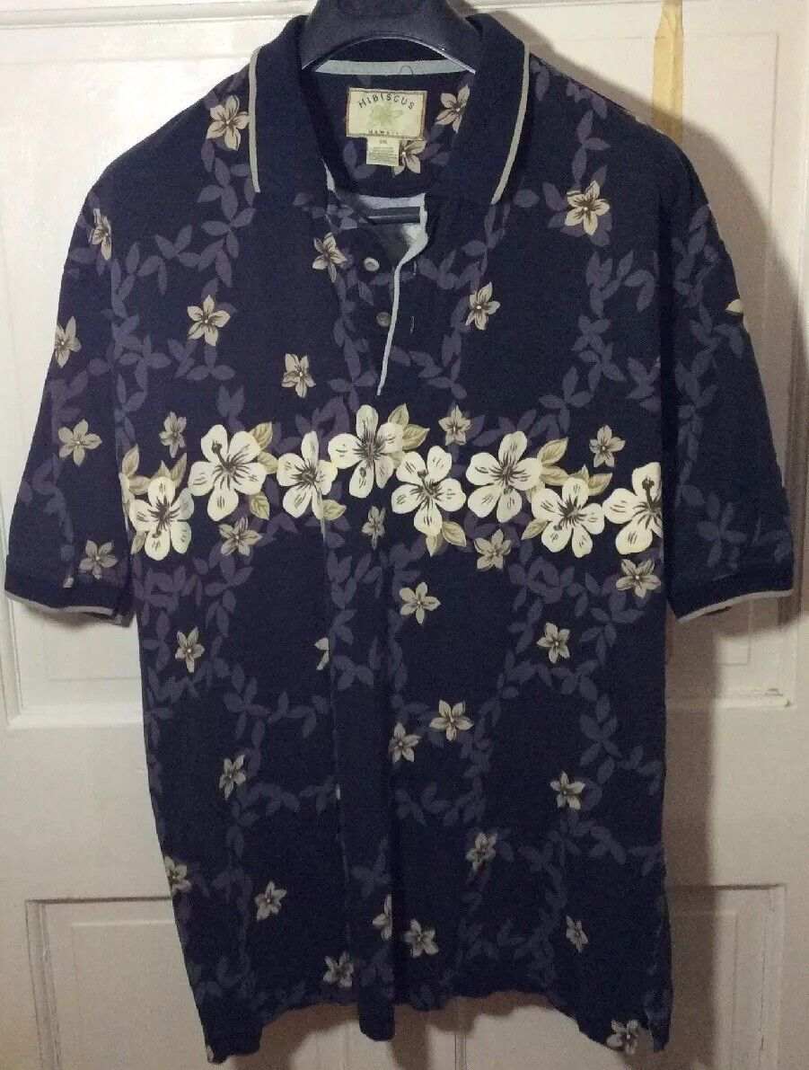 HIBISCUS Hawaiian  Short Sleeve Shirt XXL