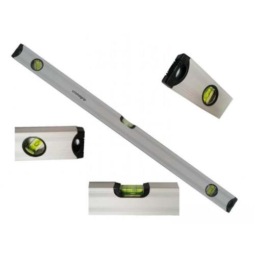 Aluminium Spirit Level Léger 45d 80 cm 3 flacon Johnson Tile Builders 800 mm