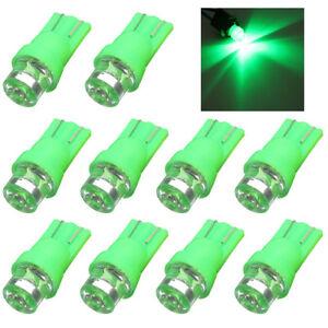 10X-T10-Green-Led-Globe-Bulb-Car-Side-Wedge-Dash-Light-W5W-168-Lamp-12V-Vs-Xenon