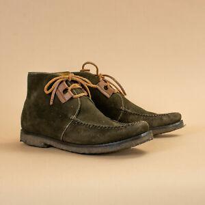 Fairmount En Daim Vert Lacets Chaussures Made In Brazil Années 90 Y2k Uk 7.5 Eu 41.5 Us 9.5-afficher Le Titre D'origine Dernier Style