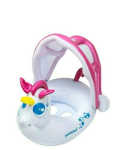 NEW Removable Sunshade 6-18 Mo My Unicorn Baby Boat Level 1 Pool Float Pink