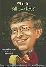 WHO IS BILL GATES Kids BOOK Brand NEW Biography MICROSOFT Technology WAS