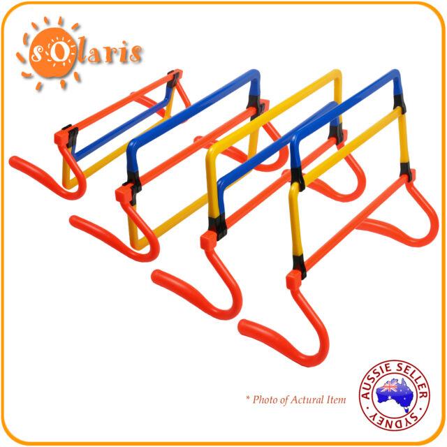 Foldable Step Hurdles 4 Adjustable Height Speed Agility Training Aid Set of 6