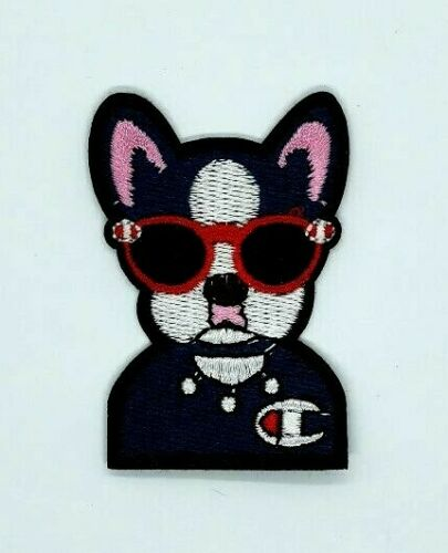 Super Cool Dog Sunglasses Bandana Puppy Embroidered Iron On Patch 350