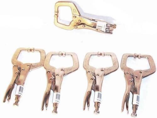 "6/"" Locking c Clamp with Regular tipWelding Locking Pliers Clamp tools 5 pcs"