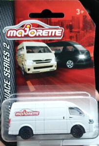 Majorette-TOYOTA-HIACE-Van-Series-2-White-logo-diecast-model-car-Limited