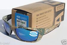COSTA DEL MAR Fisch POLARIZED Sunglasses Realtree AP Camo/Blue Mirror Glass NEW