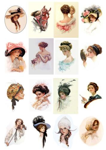 """Lady Flonz 015 Vintage Craft Scrapbooking 10sh A4//8/""""x12/"""" CHROMOS DECOUPIS papier"""