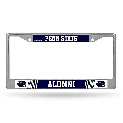 Penn State Nittany Lions Alumni On White License Plate Frame