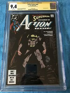 Action-Comics-644-DC-CGC-SS-9-4-NM-Signed-by-Roger-Stern-Superman