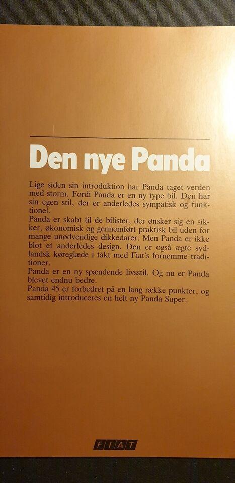 Brochure, Fiat Panda