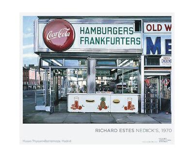 Richard Estes Photorealism Master Original European Exhibition Poster
