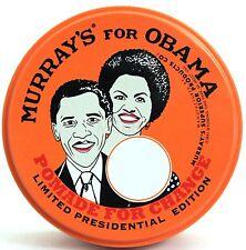 MURRAY'S (MURRAYS) SUPERIOR HAIR DRESSING POMADE LIMITED EDITION OBAMA  3 OZ.