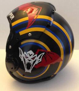 Top Gun Viper Flight Helmet Movie Prop Fighter Pilot Decals Stickers