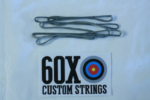 "60X Custom Strings 48/"" 52 AMO 12 Strand Silver Dacron B55 Recurve Bowstrings Bow"