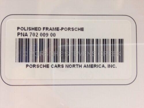 "OEM Porsche /""Porsche/"" Insignia Script Logo License Plate Frame Polished Finish"