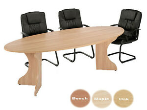 Elliptical Conference Office Table W X D X H Oak NEW - Elliptical conference table