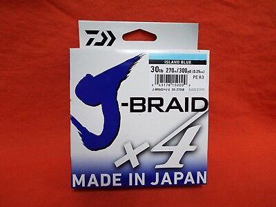 731a3c861ca DAIWA J-Braid x4 Braided Line 30lb (300yds) #30-270IB Island Blue | eBay