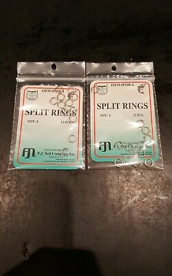 Dolphin 12 Ref Split Rings Size 4 Qty ZSSR 2 Packs
