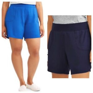 80e257b36a1bb Terra   Sky Women s Plus Athleisure Knit Short Size 2X(20W-22W)