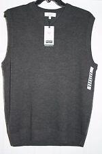 Men's TURNBURY Extra Fine Merino Wool V-Neck Sweater Vest M, L, XL, XLT, 2XT