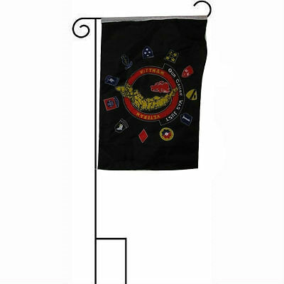 "12x18 12/""x18/"" U.S Army Seal Crest Black Sleeved w// Garden Stand Flag"