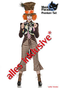 Kostum Mad Hatter Damen Verruckter Hutmacher Wunderland Karneval