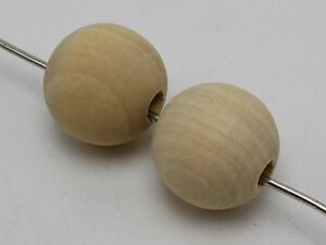20-Natural-Untreated-Plain-Large-Wood-Round-Beads-20mm-Wooden-beads