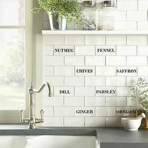 transfers for kitchen tiles tile transfers stickers herbs spices 150mm x 75mm brick 6342