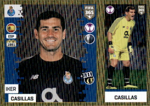 Panini FIFA365 2019 FC Porto Iker Casillas Sticker 272 a//b