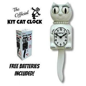 White Lady Kit Cat Clock 15 5 Free Battery Limited