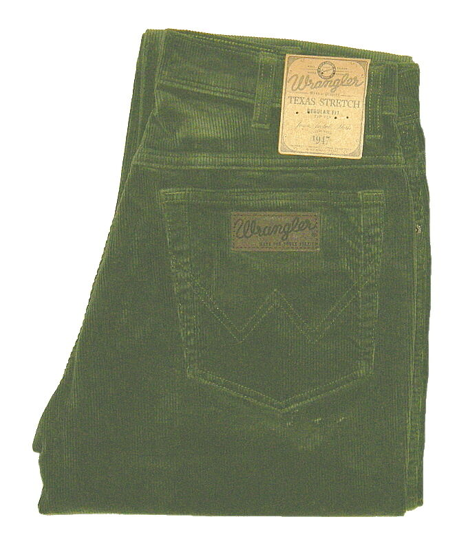 Wrangler Texas Corduroy Stretch Size Selection W 32 Bis 38 green   Moss NEW