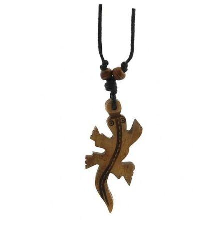 Collier pendentif  gecko lezard Artisanat fait main Nepal   A67B
