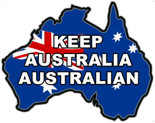 VINYL DECAL KEEP AUSTRALIA AUSTRALIAN MAP Size apr 100mm by 80mm SET OF 30