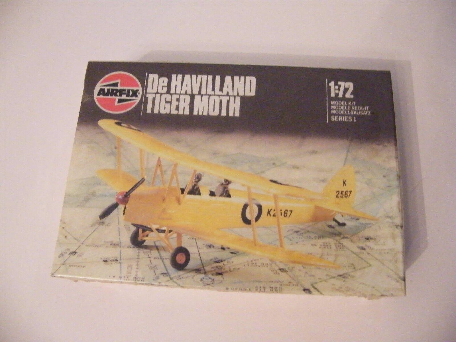 Airfix 1 72 De Havilland tiger Moth model canned blister