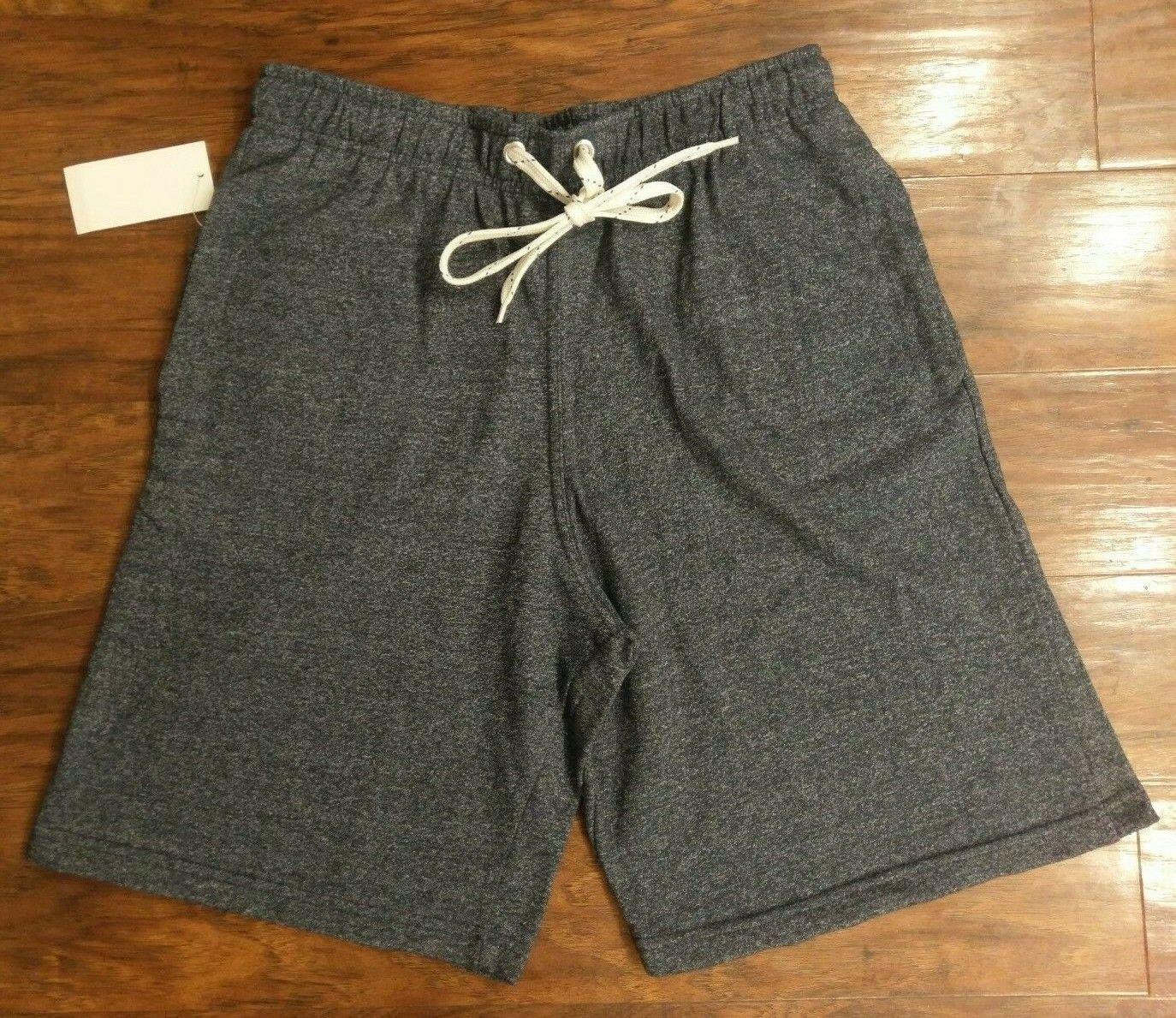Men's NAVY BLUE Knit Athletic Shorts With Pockets, sz MEDIUM new nwt