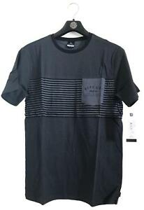 Rip-Curl-LINO-TEE-Men-039-s-Crew-Neck-Short-Sleeve-Cotton-T-Shirts-New-Black
