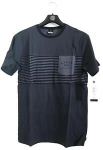 CTETY1 Black Marle Rip Curl PLAIN POCKET TEE Men/'s Crew Neck T Shirts New