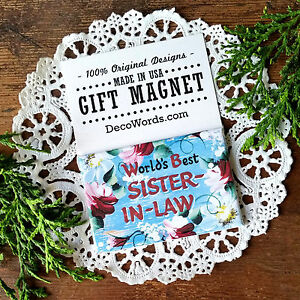 DecoWords-Gift-Magnet-Sister-in-law-Pretty-Fridge-Magnet-Sister-in-Law-NEW-USA