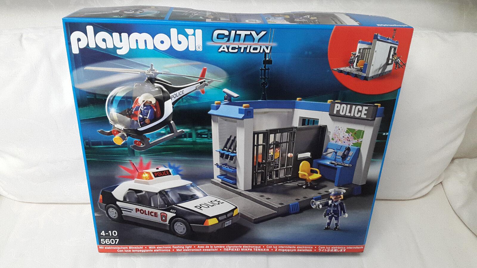 PLAYMOBIL 5607 City City City Action Set polizia elicottero polizia luce auto NUOVO & OVP 9afe38