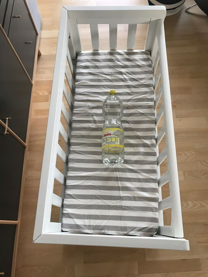 Krybbe, Bedside crib m. Madras, b: 45,5 l: 94,5