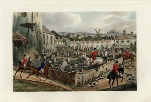 FOXHOUNDS-AND-RED-COAT-FOX-HUNTERS-HORSES-CHASING-A-FOX-THROUGH-THE-CEMETERY