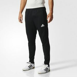 Details about NEW Adidas Tiro 17 Men's Training Pants Climacool Soccer Black White BK0348