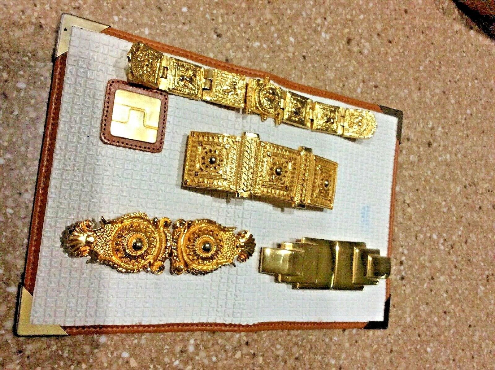 Alexis Kirk And Accessorcraft Belt Buckle Lot Of 4 Gold Tone Box A