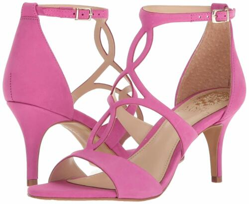 Vince Camuto Women/'s Payto Leather Ankle-Strap Dress Pumps Pholox Pink