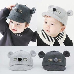 0e89b6f3c Details about Baby Boys Girls Children Toddler Infant Cat Ear Baseball Hat  Kids Visor Cap Hats
